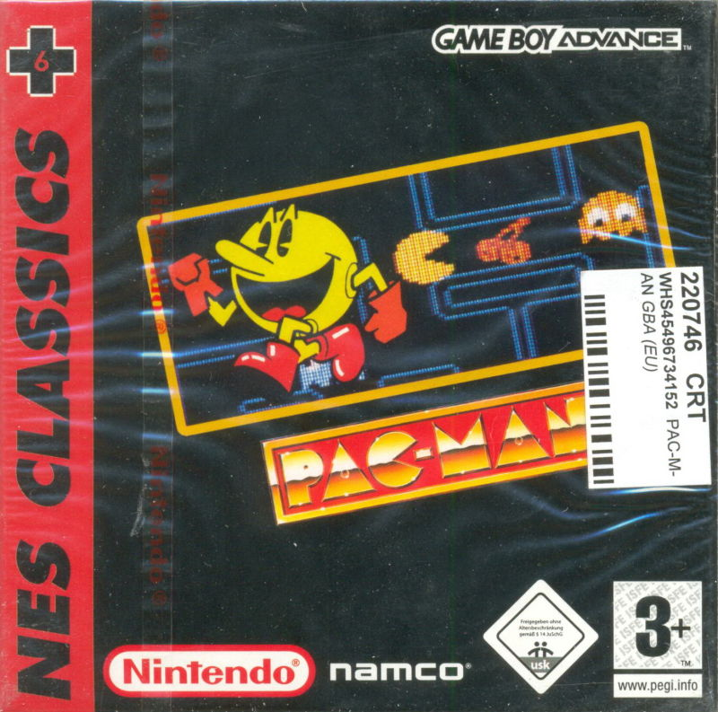 Pac-Man Game Boy Advance Front Cover