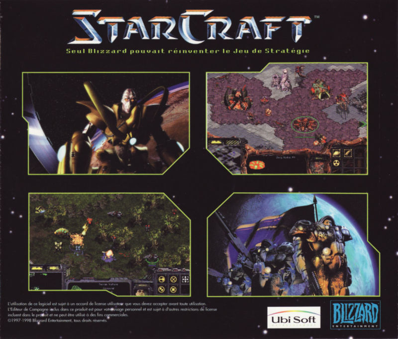 StarCraft Windows Other Jewel Case - Back