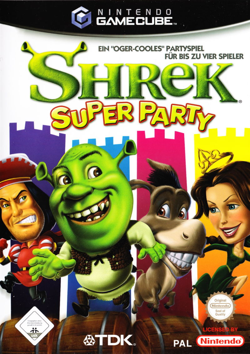 Shrek: Super Party GameCube Front Cover