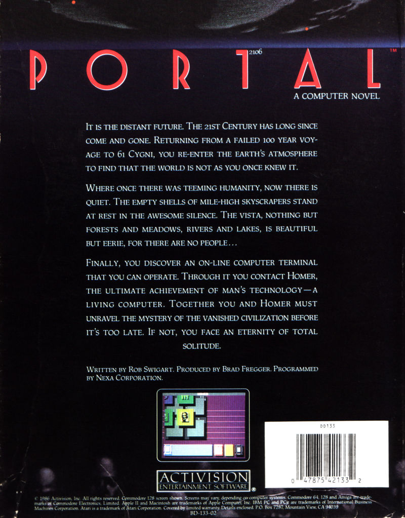 Portal Commodore 64 Back Cover