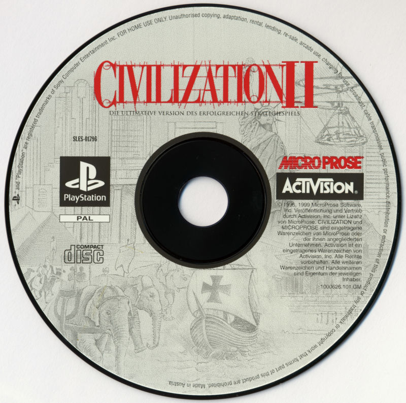 Sid Meier's Civilization II PlayStation Media