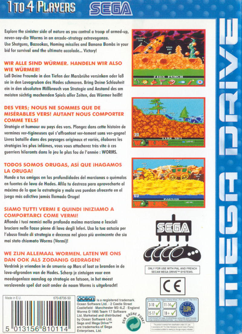 Worms Genesis Back Cover