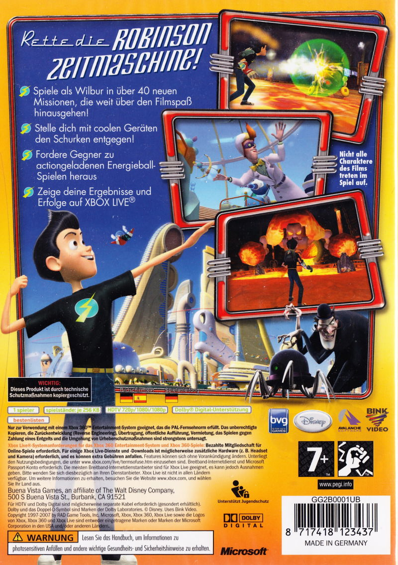 meet the robinsons 2007 gamecube box cover art mobygames