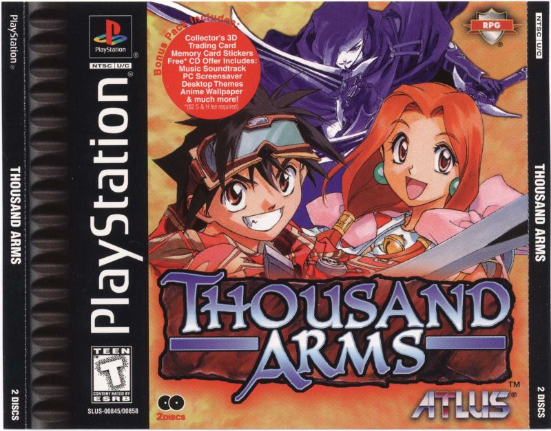 Thousand Arms PlayStation Front Cover