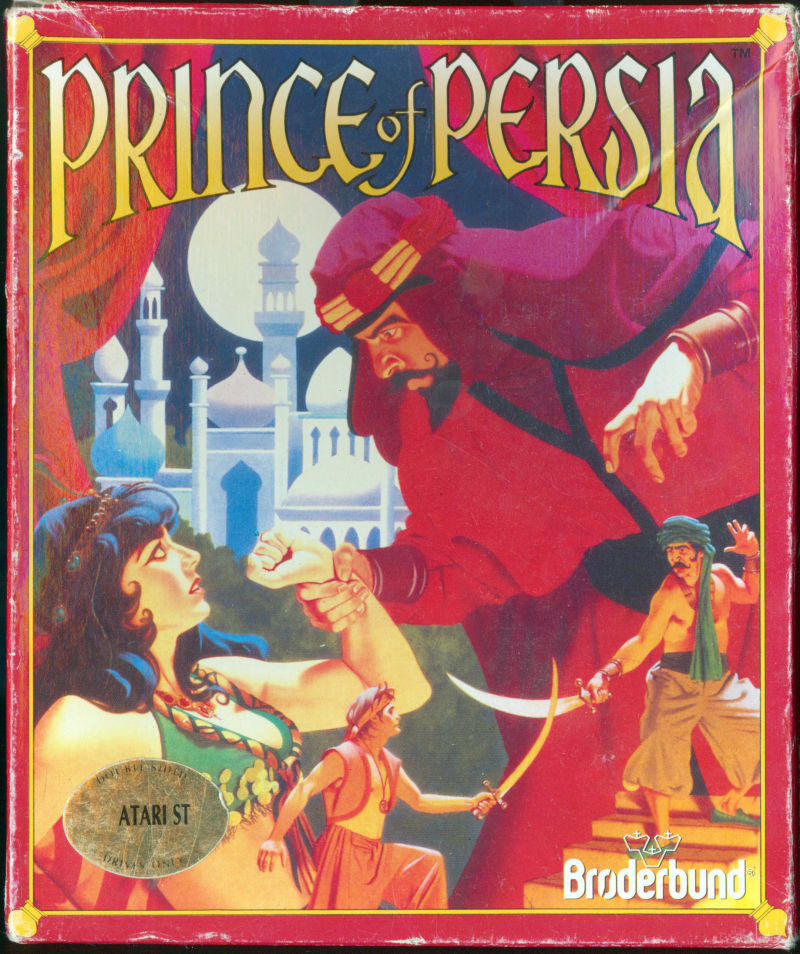 Prince of Persia Atari ST Front Cover