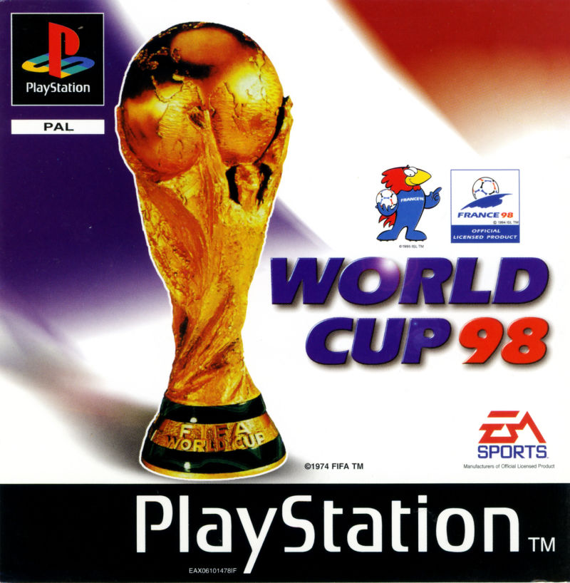 World Cup 98 PlayStation Front Cover