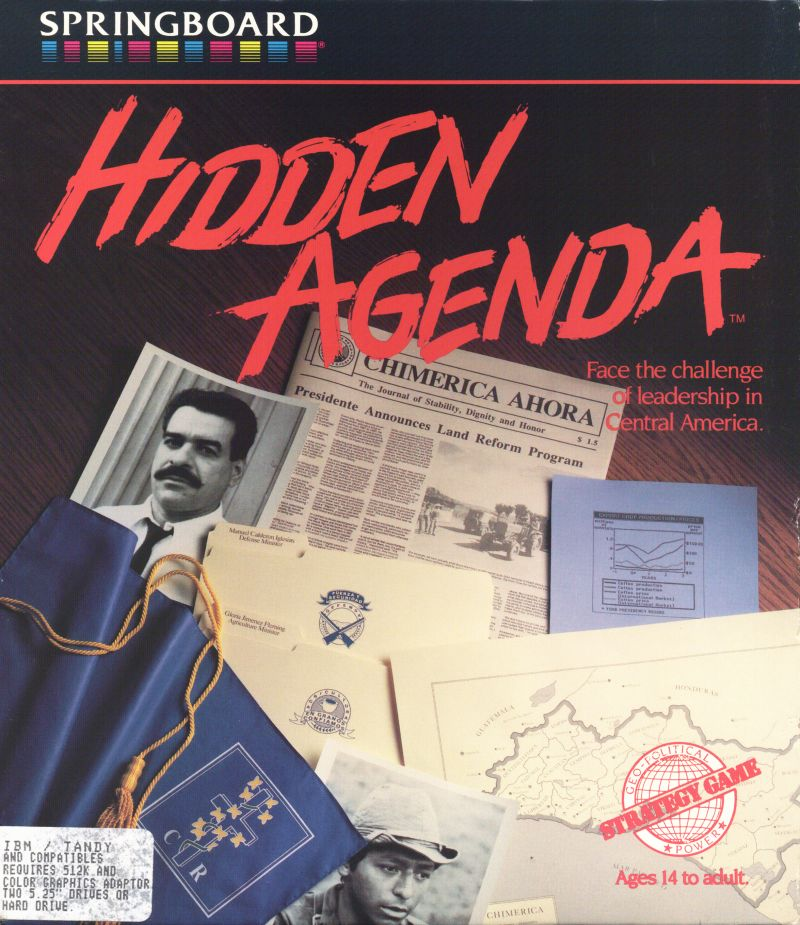 Hidden Agenda DOS Front Cover