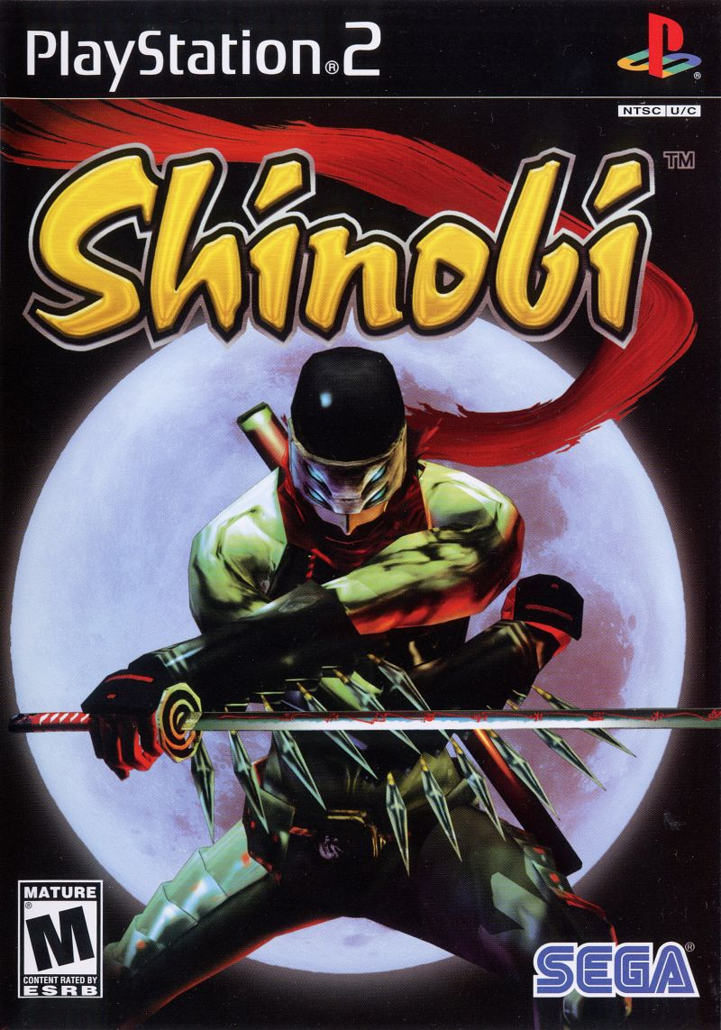 Shinobi PlayStation 2 Front Cover