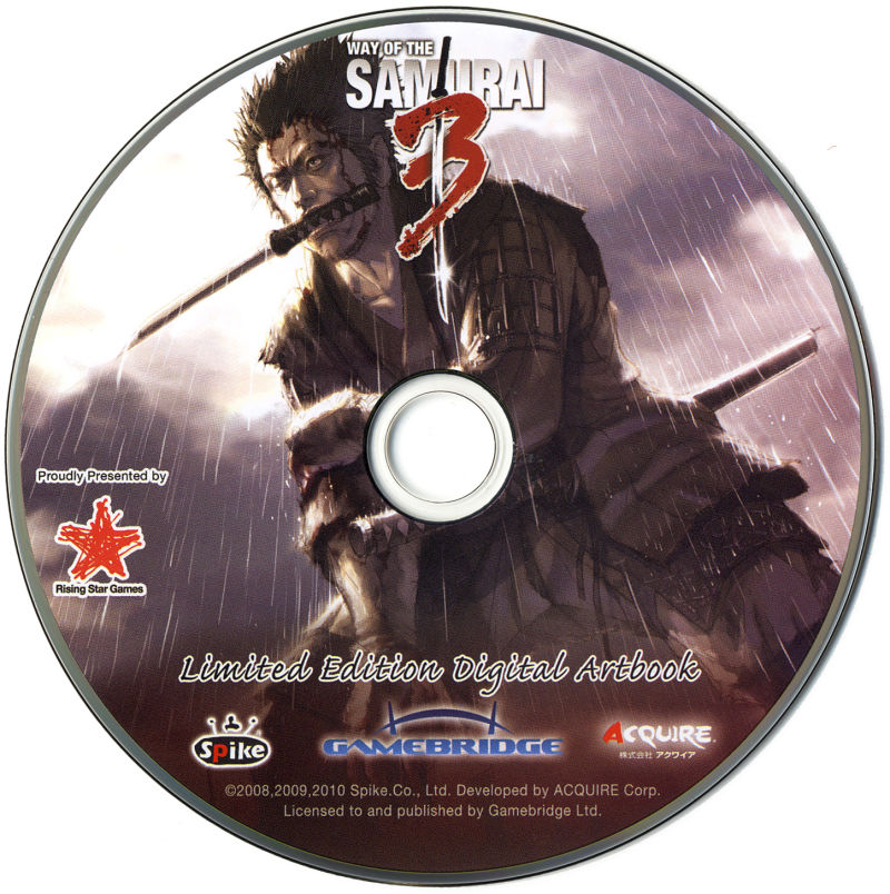 Way of the Samurai 3 Xbox 360 Media Bonus Disc