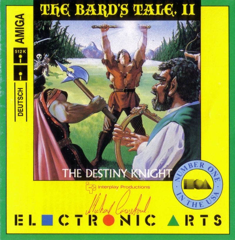 The Bard's Tale II: The Destiny Knight Amiga Front Cover