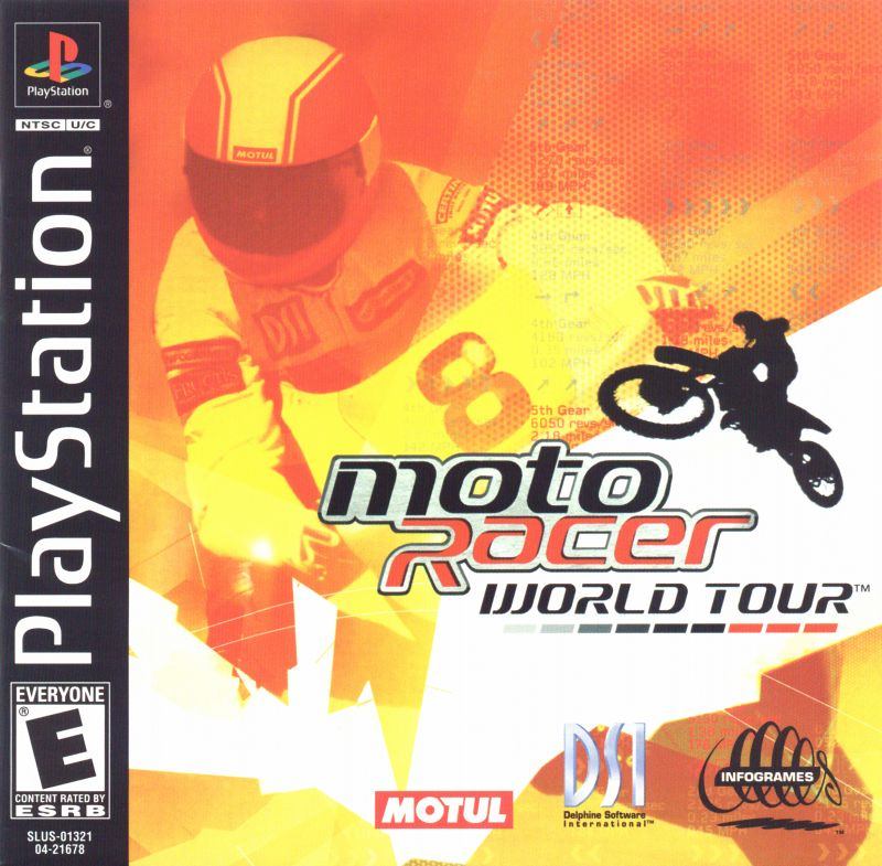 Moto Racer World Tour PlayStation Front Cover
