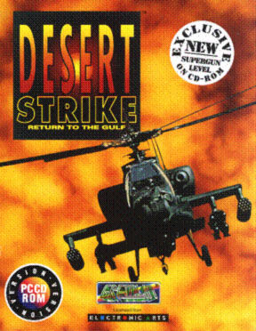 Desert Strike: Return to the Gulf DOS Front Cover