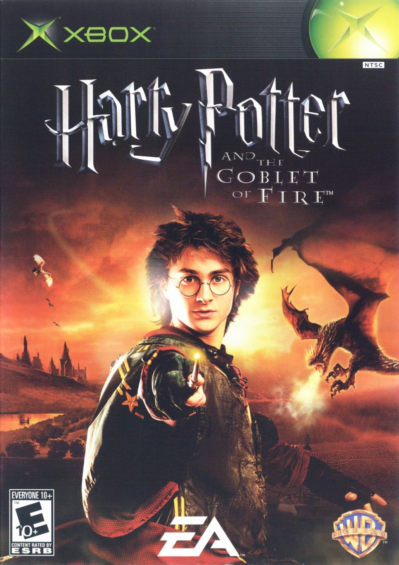 Book Cover Pictures Xbox : Harry potter and the goblet of fire xbox box cover