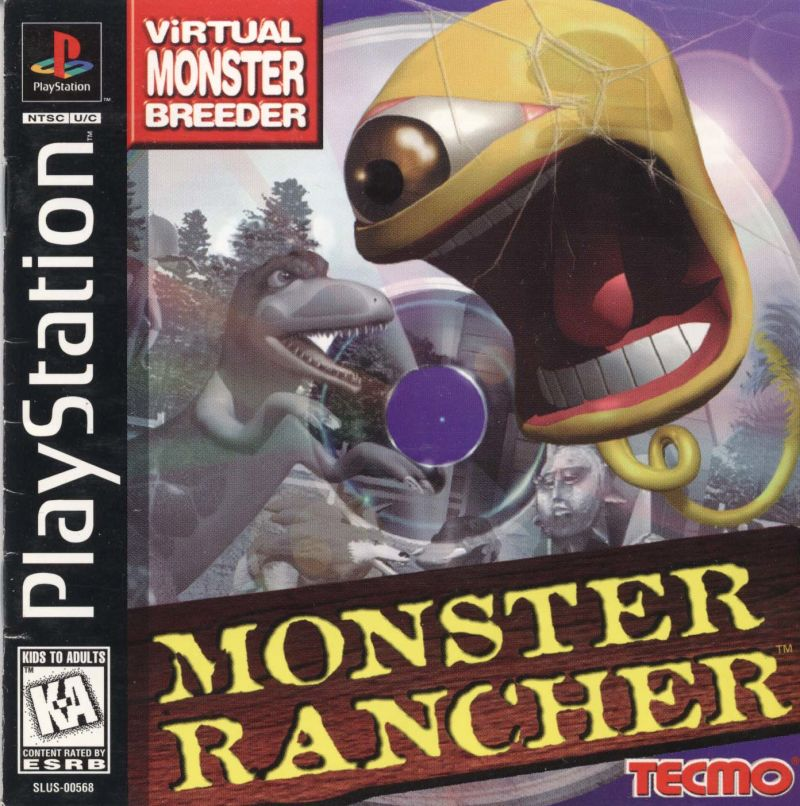 Monster Rancher PlayStation Front Cover