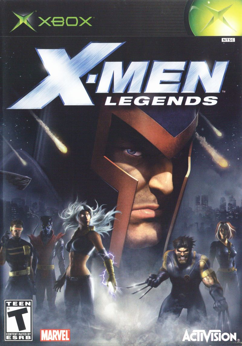X-Men: Legends Xbox Front Cover