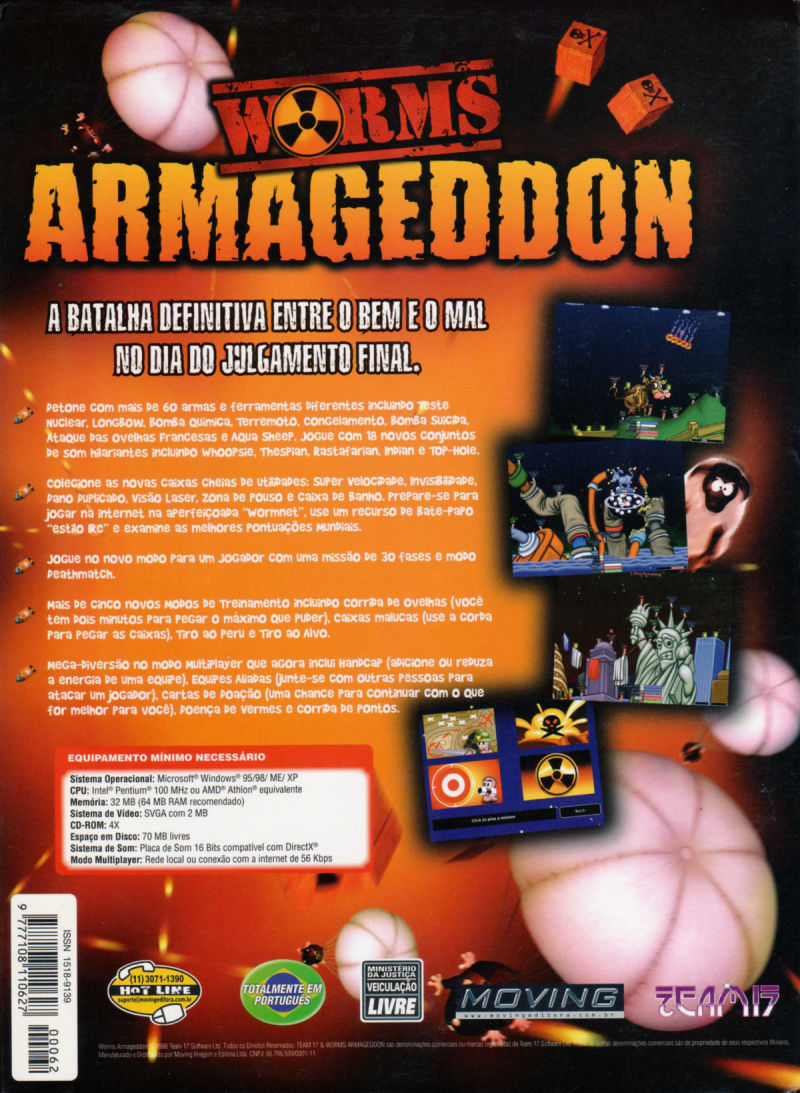 Worms: Armageddon Windows Back Cover