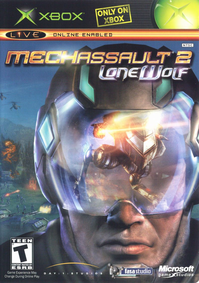 MechAssault 2: Lone Wolf Xbox Front Cover
