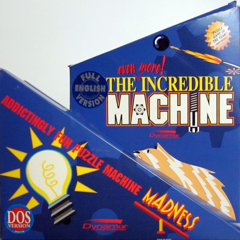 The Even More! Incredible Machine DOS Front Cover