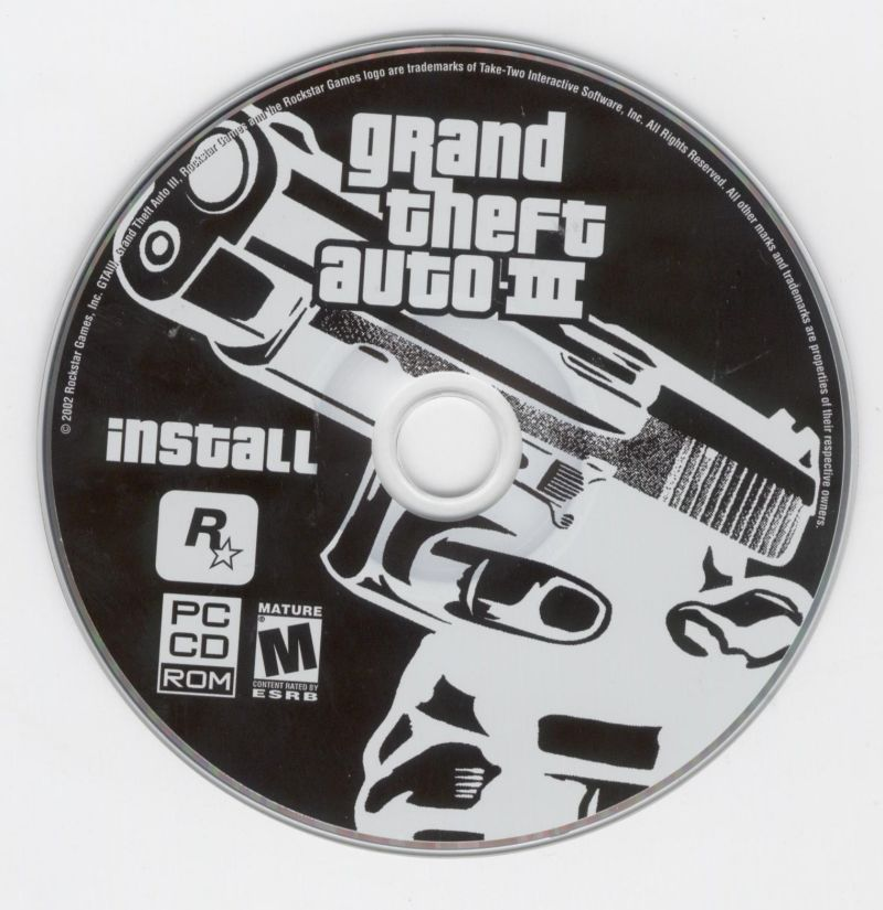Grand Theft Auto III Windows Media Install Disc