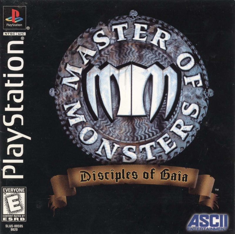 Master of Monsters: Disciples of Gaia PlayStation Front Cover