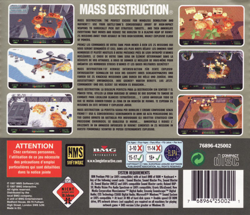 Mass Destruction DOS Other Jewel Case - Back