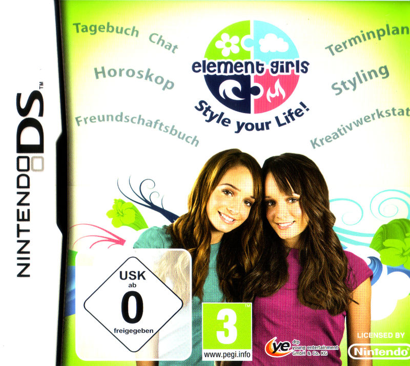 Element Girls: Style your Life! Nintendo DS Front Cover