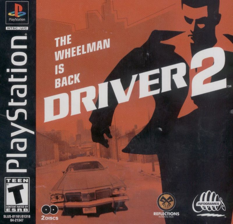 Driver 2 PlayStation Front Cover