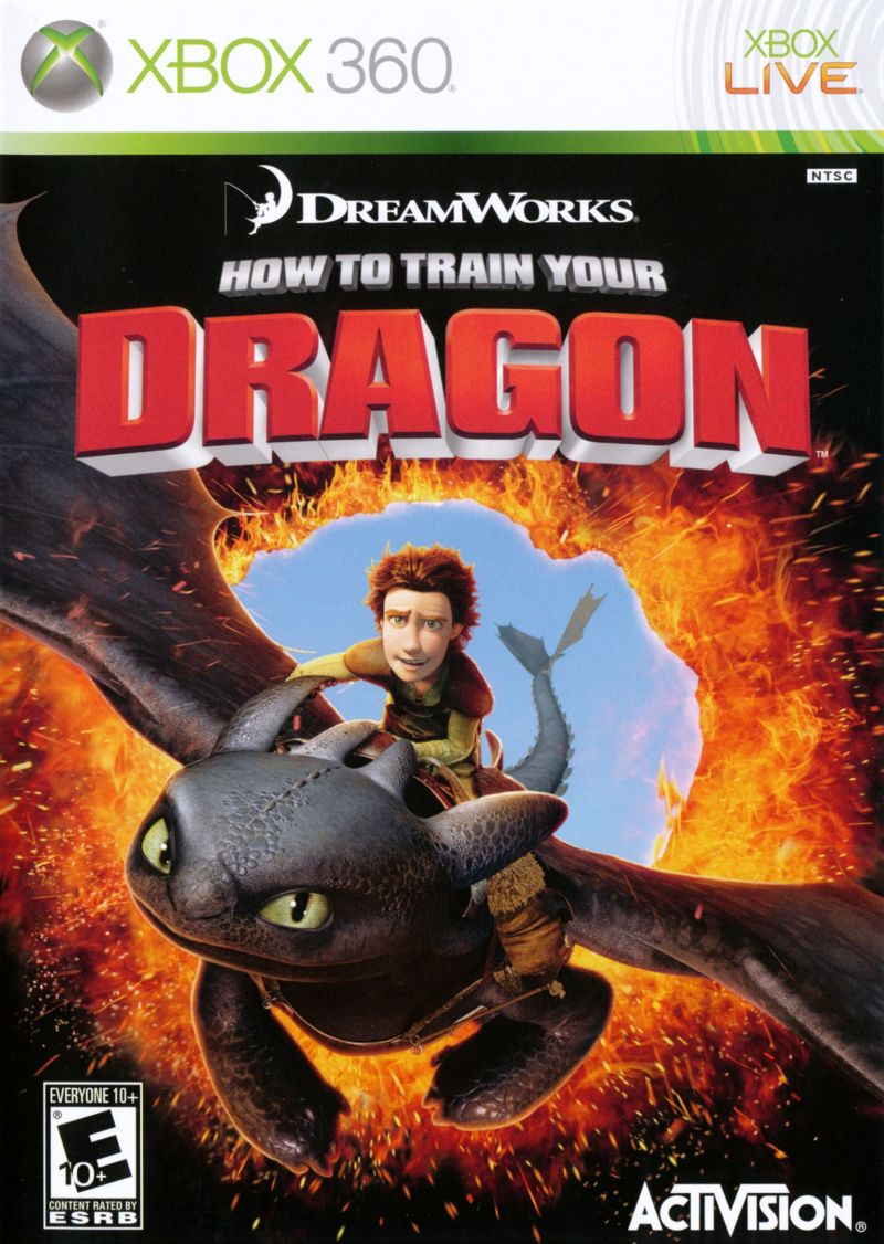 How to Train Your Dragon Xbox 360 Front Cover
