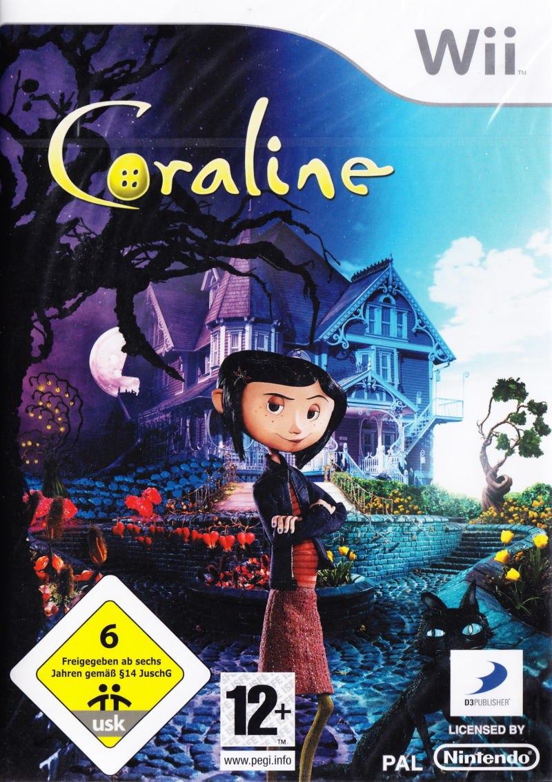 Coraline Wii Front Cover
