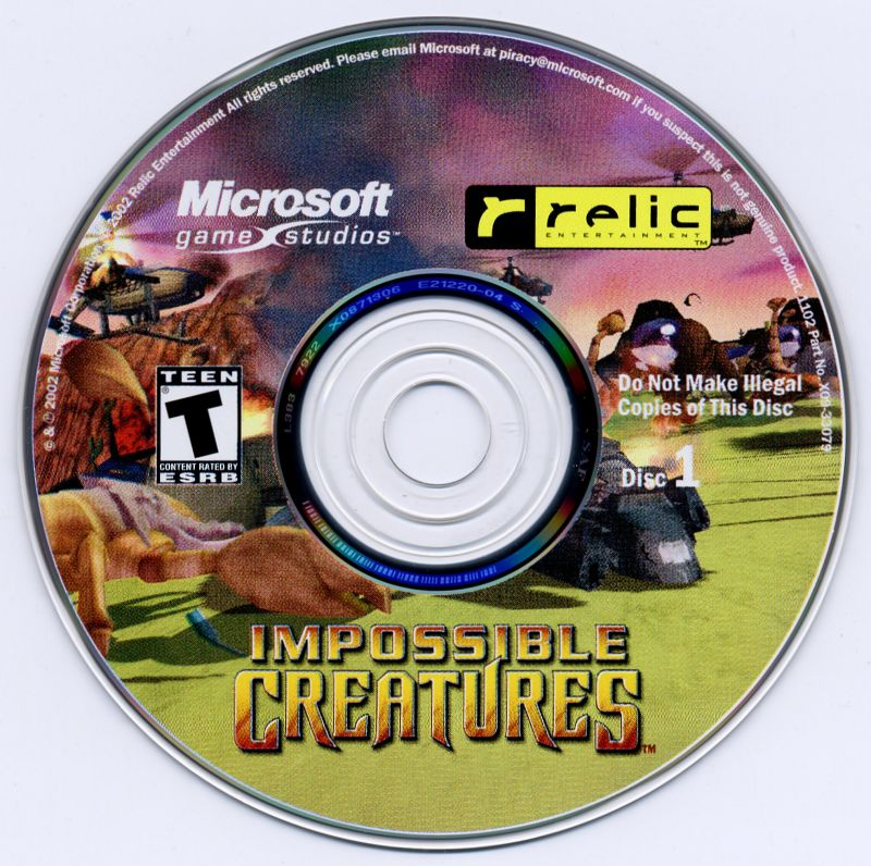 Impossible Creatures Windows Media Disc 1