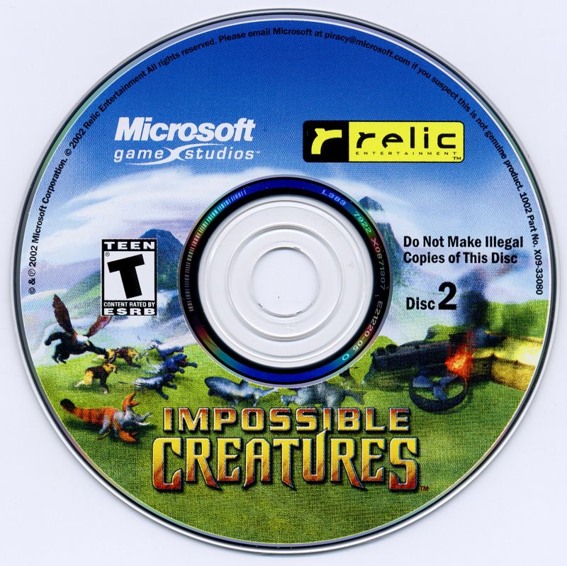 Impossible Creatures Windows Media Disc 2
