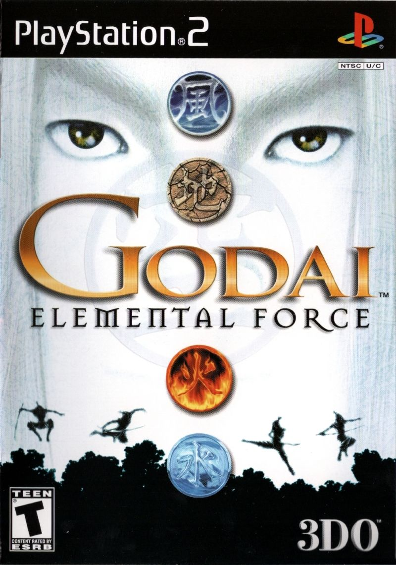Godai: Elemental Force PlayStation 2 Front Cover