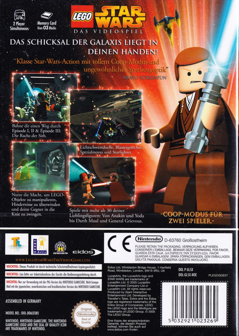 Lego Star Wars The Video Game 2005 Gamecube Box Cover Art Mobygames
