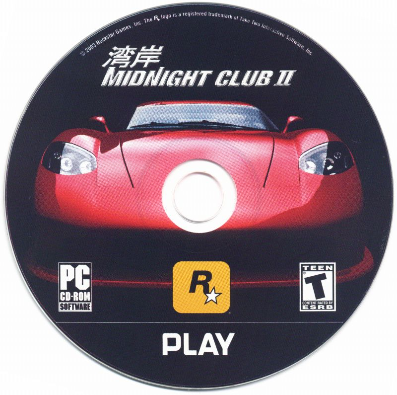 Midnight Club II Windows Media Play Disc