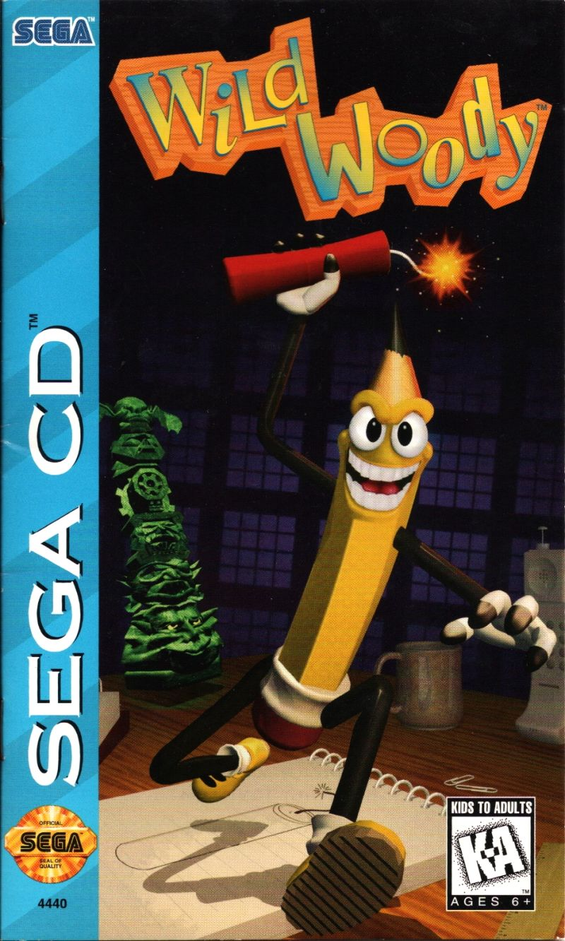 Wild Woody SEGA CD Front Cover
