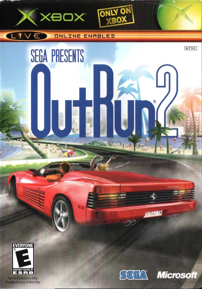 OutRun 2 Xbox Front Cover