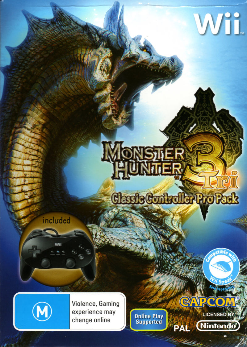Monster Hunter Tri (Classic Controller Pro Pack) Wii Front Cover