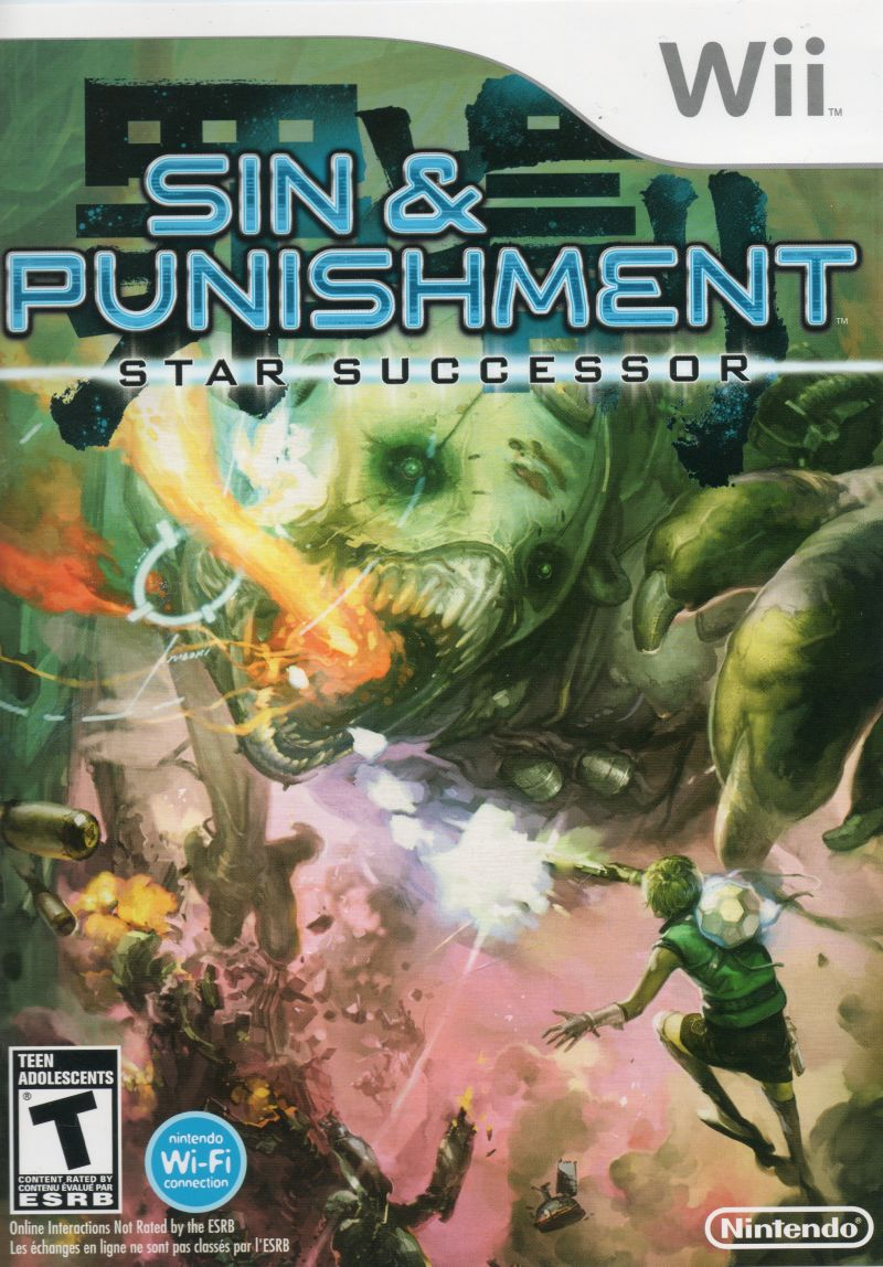 Sin & Punishment: Star Successor Wii Front Cover