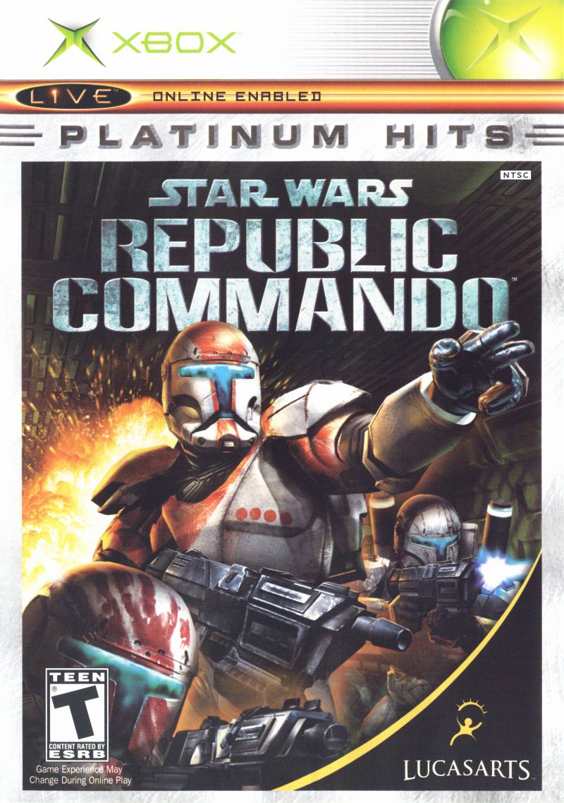 star wars republic commando 2005 xbox box cover art