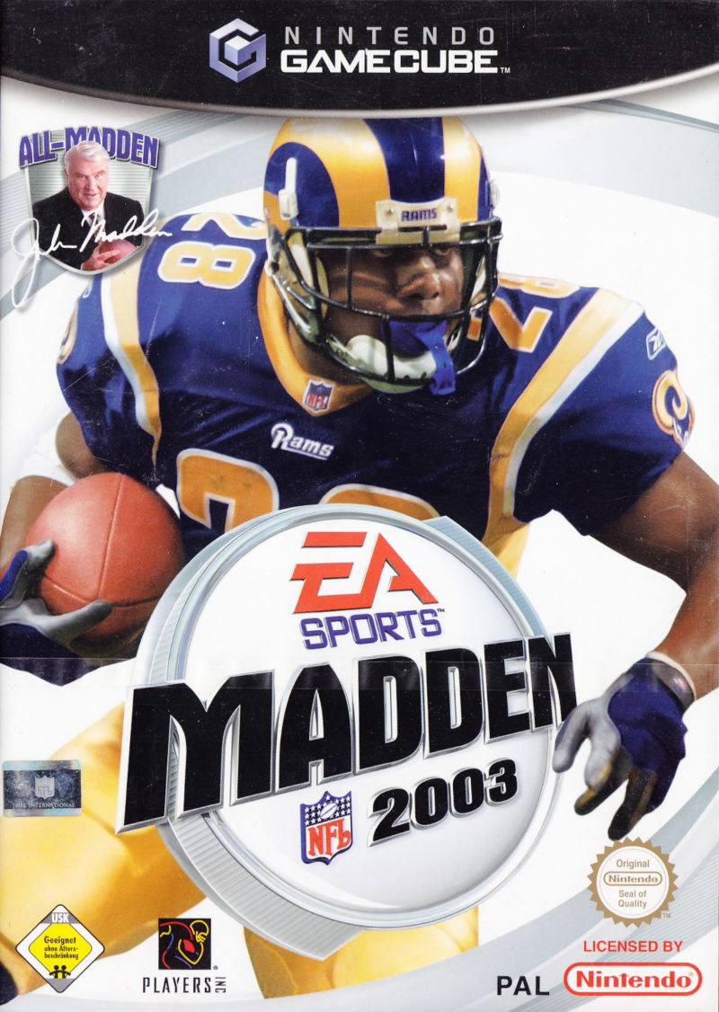 Madden NFL 2003 GameCube Front Cover