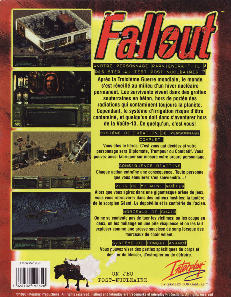Fallout DOS Back Cover