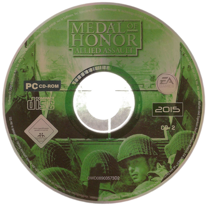 Medal of Honor: 10th Anniversary Windows Media <i>Medal of Honor: Allied Assault</i> CD 2/2