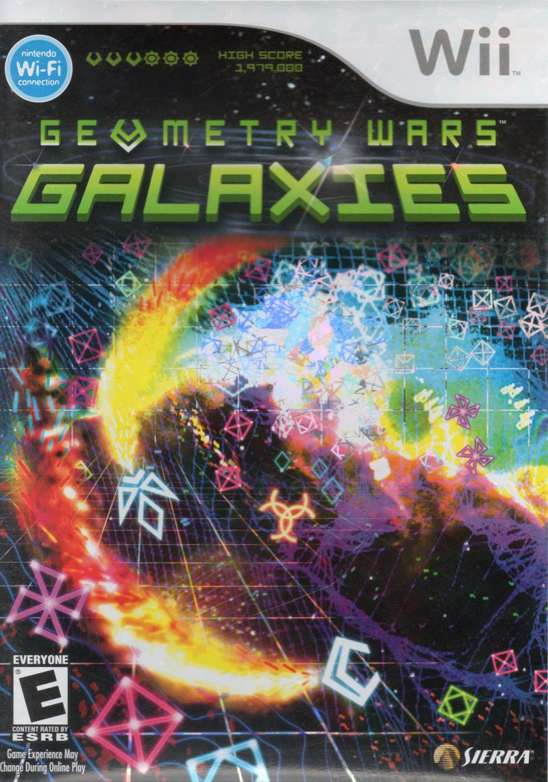 Geometry Wars: Galaxies Wii Front Cover