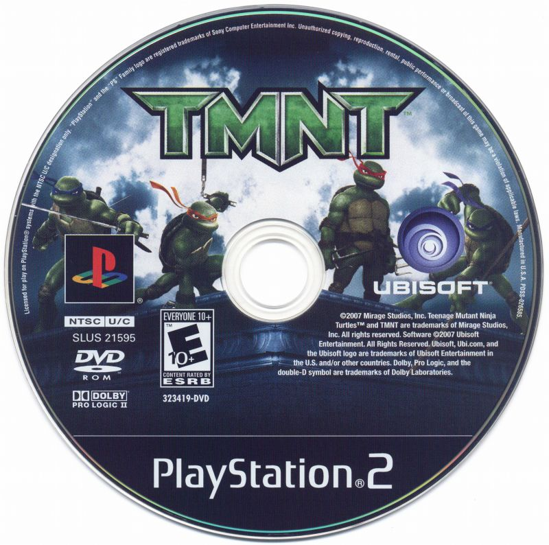 TMNT PlayStation 2 Media