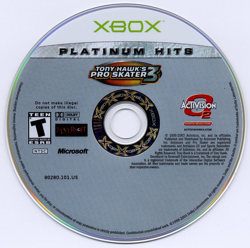 Tony Hawk's Pro Skater 3 Xbox Media