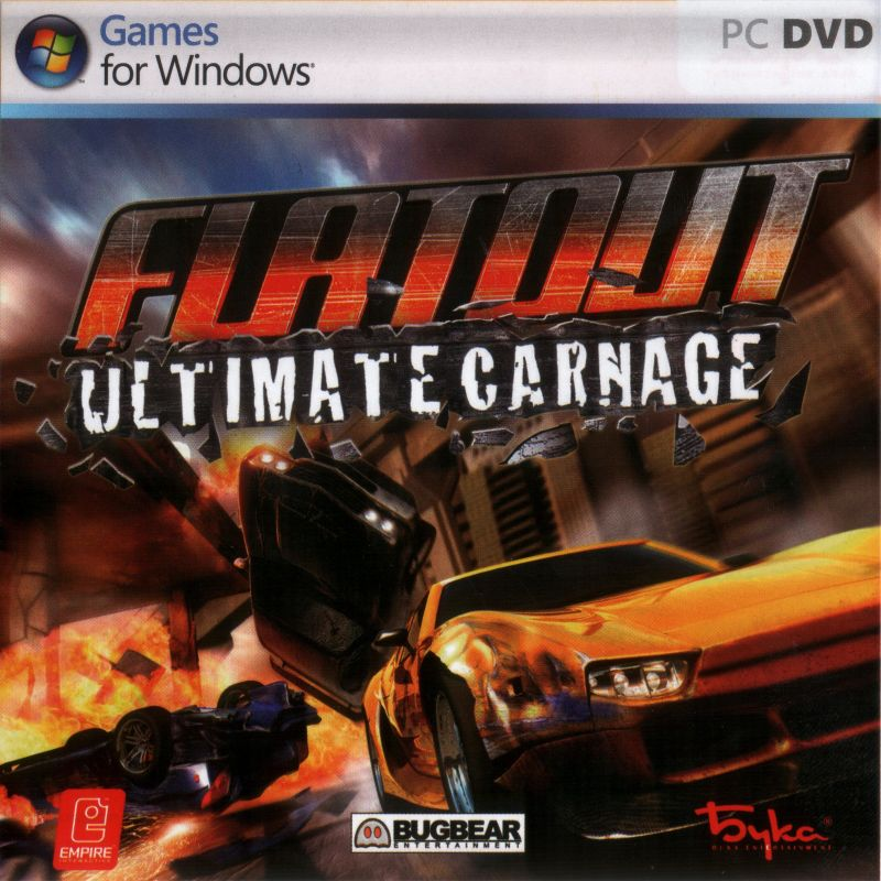 flatout ultimate carnage 2008 windows box cover art. Black Bedroom Furniture Sets. Home Design Ideas