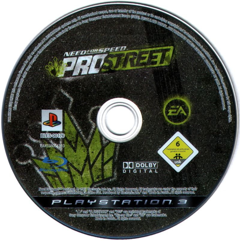 Need for Speed: ProStreet PlayStation 3 Media