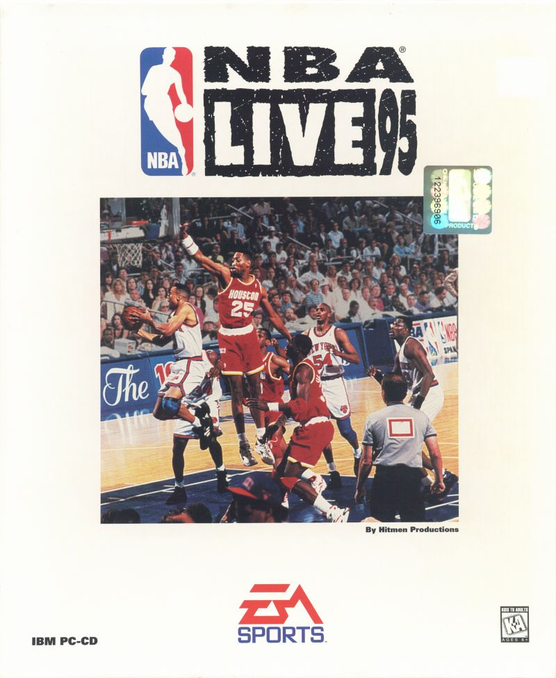 NBA Live 95 DOS Front Cover