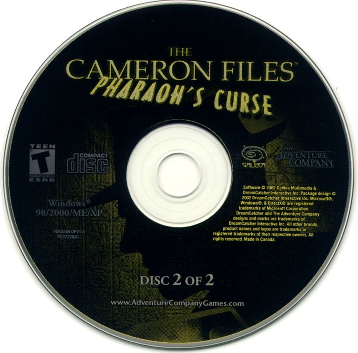 The Cameron Files: Pharaoh's Curse Windows Media Disc 2
