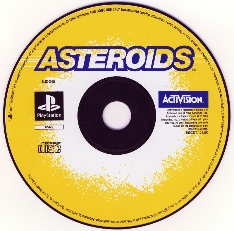 Asteroids PlayStation Media
